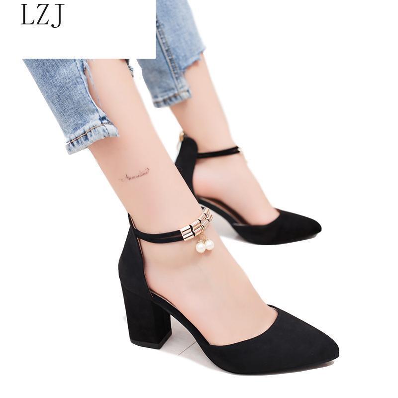 Сандалии мода лодыжки ремешок женщин повседневные летние туфли на высоком каблуке пряжки женские офисные работы сандалии гладиатор золото