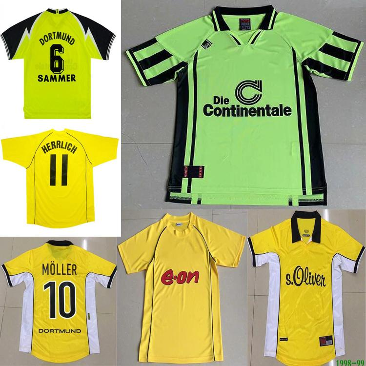 1995 96 97 98 99 2000 01 02Retro Metzelder Dede Soccer Jersey Moller Amoroso Rosicky Bobic Camisa de Futebol Clássico