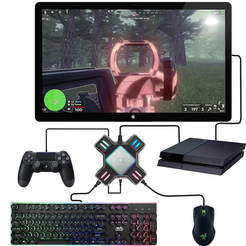USB Oyun Denetleyicileri Adaptörü Dönüştürücü Video Oyunu Klavye Fare Adaptörü Nintendo Anahtarı / Xbox / PS5 / PS4 / PS3