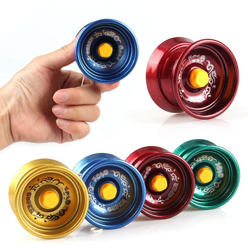 금속 Fidget 회 전자 금속 요요 합금 알루미늄 디자인 고속 전문 요요 볼 베어링 문자열 트릭 요요 아이들 마법 저글링 장난감