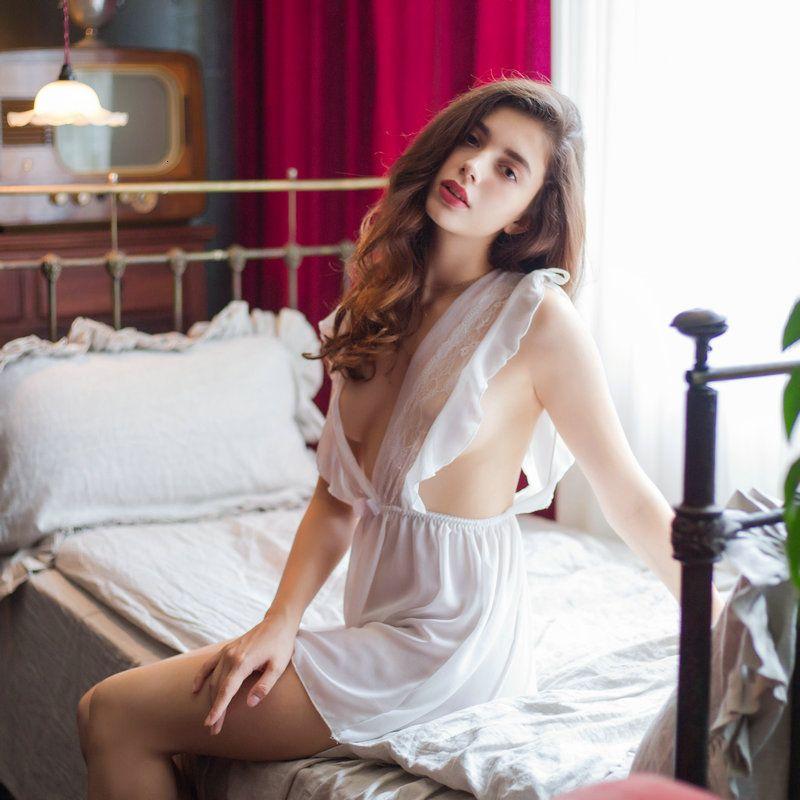 Женские наборы белый шифон костюм пижама