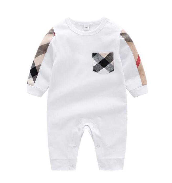 Verano niño pequeño bebé niño diseñadores diseñadores ropa recién nacido mono de manga larga algodón pijamas 0-24 meses mamelucos diseñadores ropa niños niña