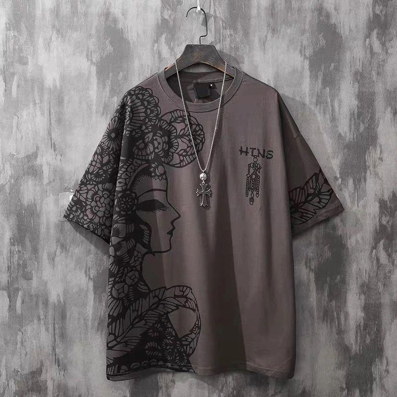 2021 Abbigliamento Tees National Fashion Stampato Stampato Manica corta Tshirt Uomo Brand Top T-shirt Men-S Summer Summer Uomo Allentato T Shirt Mezza Asian Plus Size S-4XL