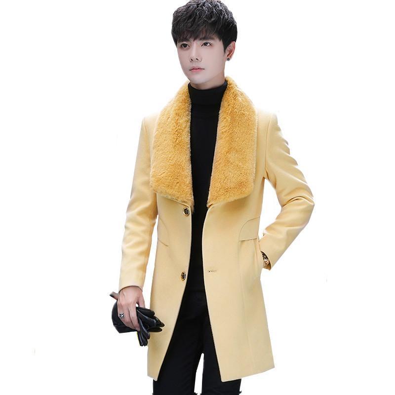 Мужская шерстяная смесь зимние чистого цвета Мужчины шерстяное пальто модный мужской бизнес повседневная одежда 2021 классическое платье свадьбы