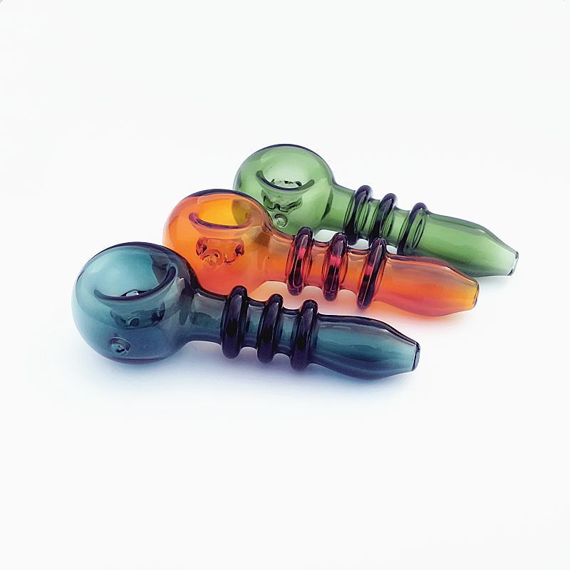 4in Schraubform Glasrohr Ölbrenner Trocknen Kraut Tabak Handraucherrohre