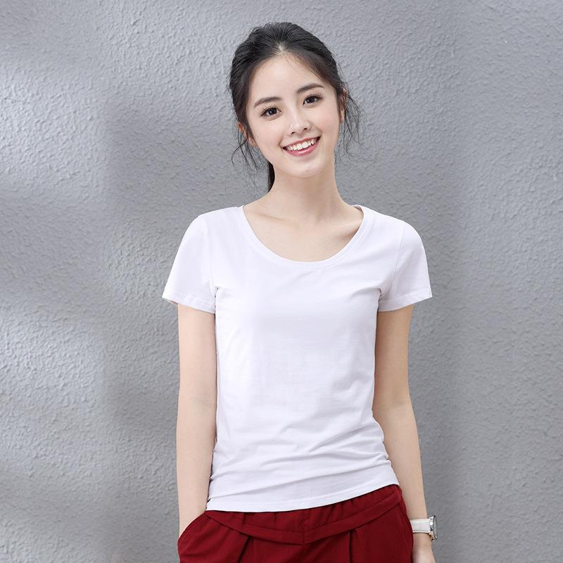Novos Camisetas Mulheres Moda Algodão Tshirts Casuais Tops Tees Feminino Camisas Camisas 210224