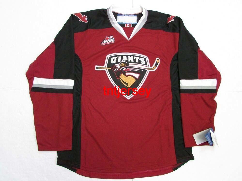 Dikişli Özel Vancouver Giants Whl Hokey Jersey Herhangi bir Ad Sayı Ekle Erkek Çocuklar Jersey XS-5XL