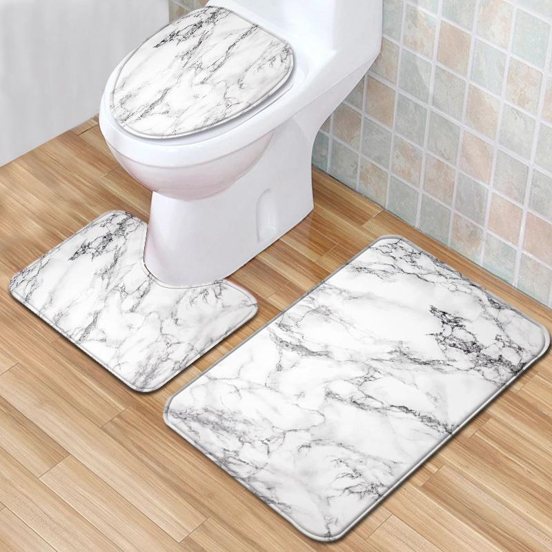 Banheiro Tapete Conjunto Flanela Casa Decoração Toalete Toilet Capa Banheiro Banheiro Cobertura Set Cobertura Conjunto de Tapete Pad Mat Pad Cobertor