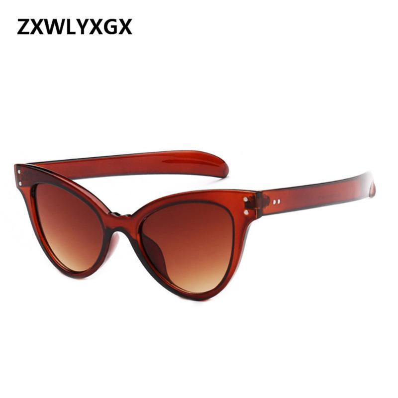 النظارات الشمسية الأزياء مسمر القط عيون المرأة العلامة التجارية شخصية أوروبا والولايات المتحدة نظارات الشمس