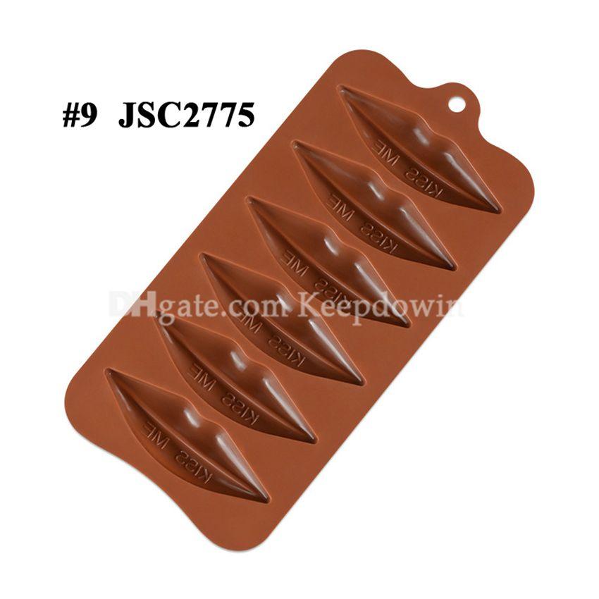 Çikolata Kalıpları Silikon Sıcak Kakao Bombaları Kalp Kalıpları Çikolata Şeker Kalıpları Için Silikon Şekiller Festivali Düğün Partileri için JSC2077