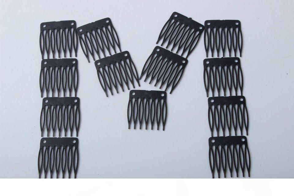 Peruk Aksesuarları Yedi Diş Plastik Tarak 3.2 cm * 3.4 cm Saç Peruk Tarak Ve Klipler Stokta