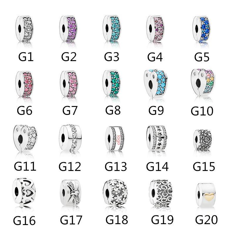 Otantik 925 Ayar Gümüş Konumlandırma Boncuk Pandora Bilezik Charms Avrupa Yılan Zincir Kolye için Uyar Moda DIY Takı