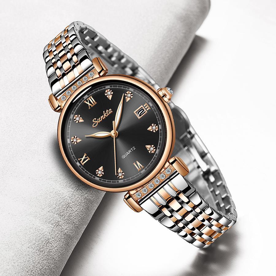 Lige Brand Sunkta Moda Donna Guarda Business Quartz Watch Ladies Top Brand Luxury Femmina Orologio da polso Girl Clock Relogio Feminin C0227