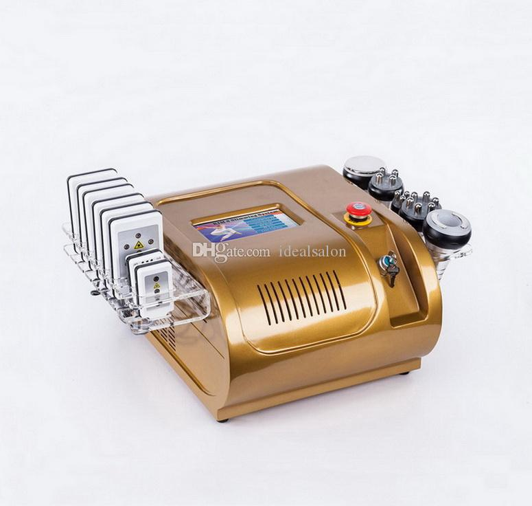 8 Pads Diode Lipo Laser LLLT Lipolaser Ultrasonic 40K Cavitation Liposuction Slimming Vacuum RF Cellulite Weight Loss Machine