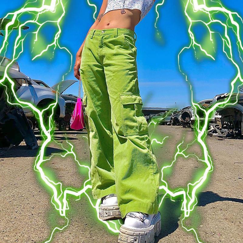 Compre Pantalones Para Mujer Capris Para Mujeres E Girl Y2k Aesthetic Harajuku Vintage Sweetpants Pantalon Femenino Classic Streetwear Alto Cintura Recta A 21 31 Del Chenshann Es Dhgate Com