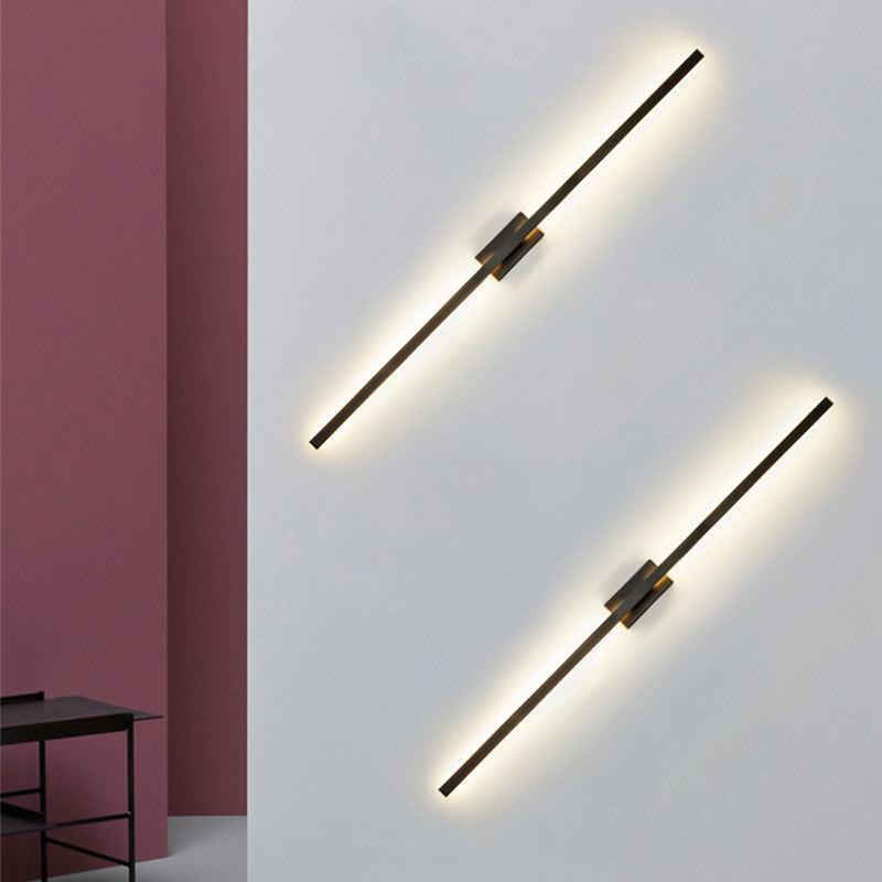 الجدار مصباح الشمال الأسود led الشمعدان الحديثة مرآة ضوء تركيبات غرفة المعيشة الحمام المنزل الديكور الإضاءة المعادن