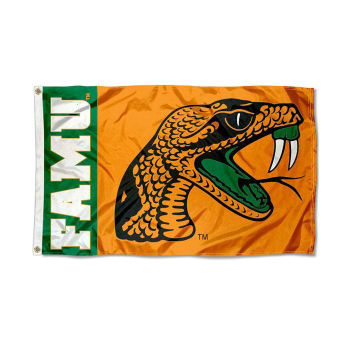 Qualità Rattlers Flag High Florida NCAA Bandiera AM 3x5FT Doppia decorazione cucita Banner 90x150cm Sport Digital PrintedDBCC