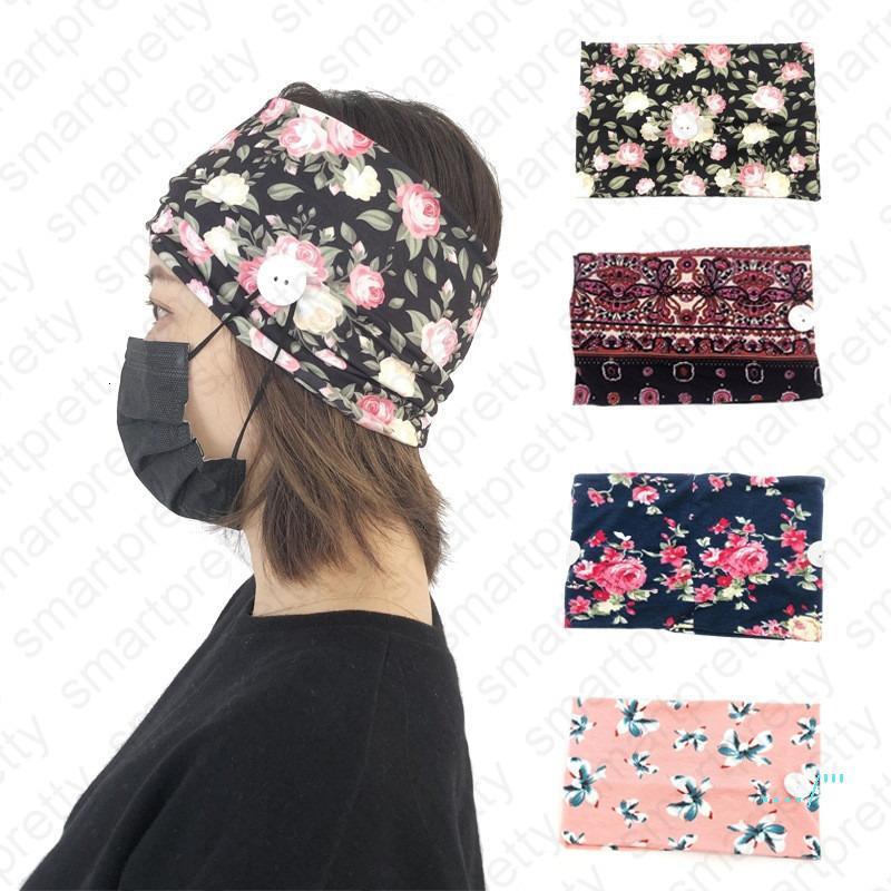 С напечатанной ушей тканью женщин повязки повязки эластичные антимаски для взрослых спортивные йоги упражнения мягкая кнопка волос кружева для девочек аксессуары D41601