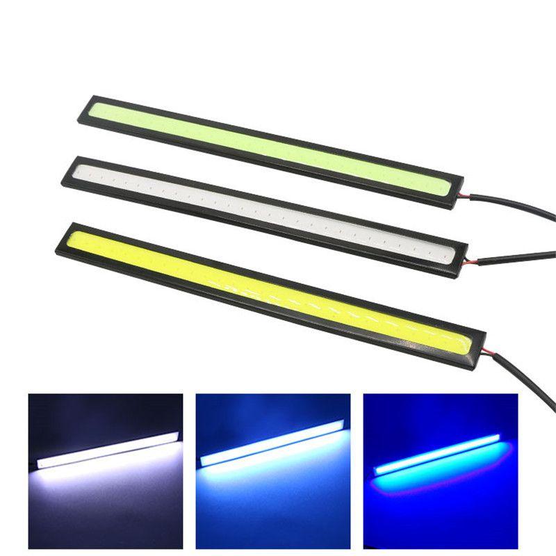 2 pçs / lote 17 cm LED Espiga Drl Daytime Executando À Prova D 'Água DC12V Externo Carro Fonte de Luz de Luz Estacionamento Bar Bar Lamp