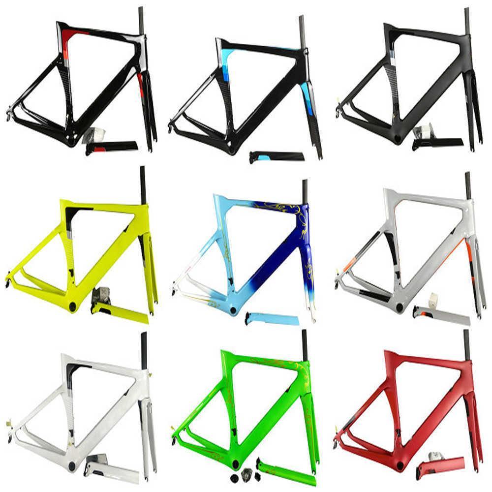 20 ألوان مفهوم إطار الطرق الإطار الكربون الإطار الطريق الدراجة