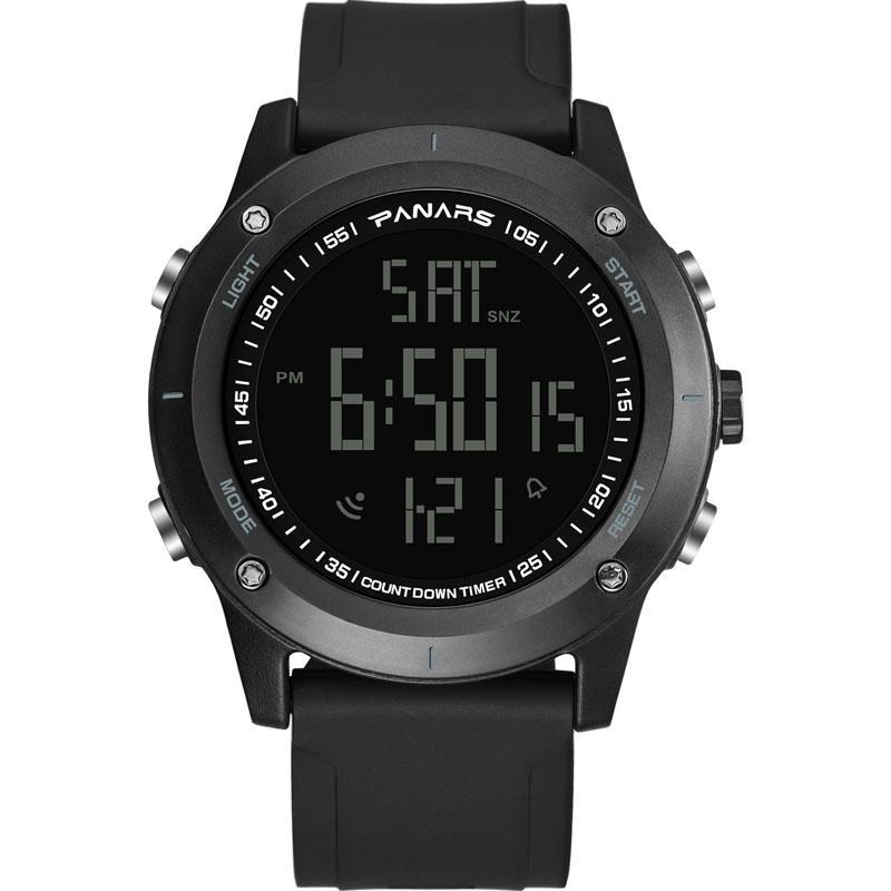 Açık Spor İzle Erkekler Çalar Saat 5bar Su Geçirmez Askeri Saatler LED Ekran Şok Ordusu Yeşil Dijital Relogio