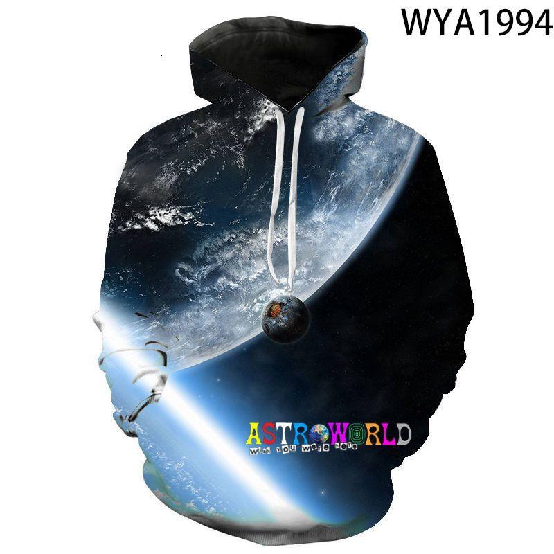 2021 yeni ilkbahar ve sonbahar astroworld astroworld 3d dijital baskılı erkek ve kadın kapüşonlu rahat kazak