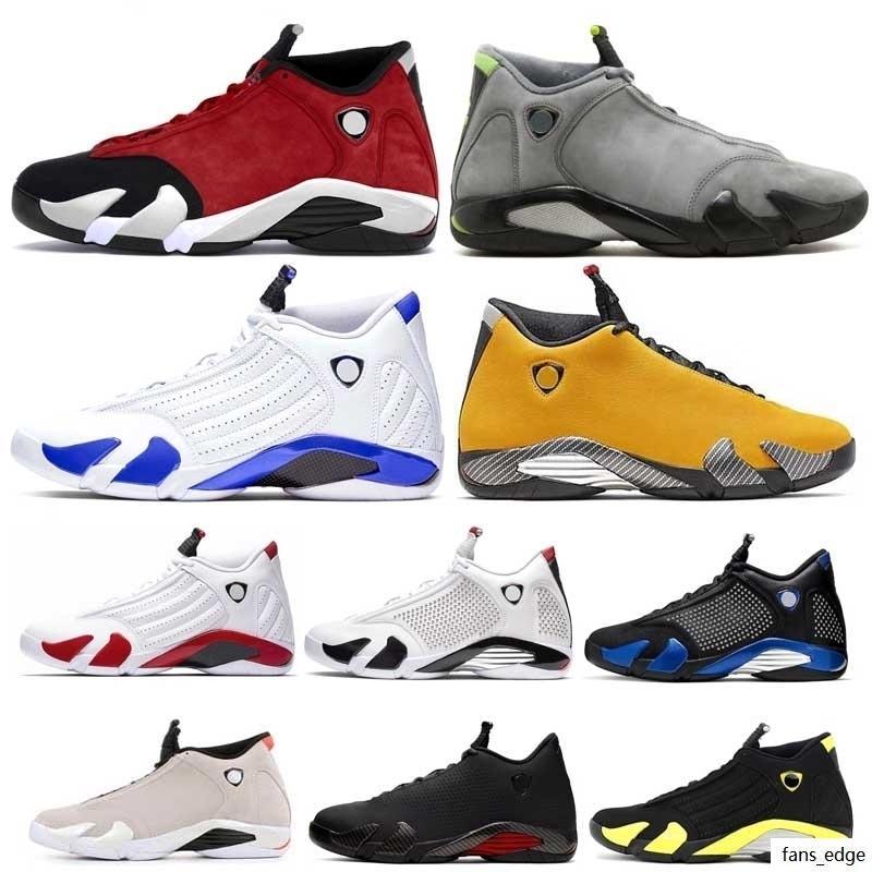 14 14 S Basketbol Ayakkabı Erkekler Için Spor Red Hyper LOYEL Varsity Roya Son Atış Şeker Kamışı XIV Üst Spor Eğitmenler Sneakers Boyutu 7-13