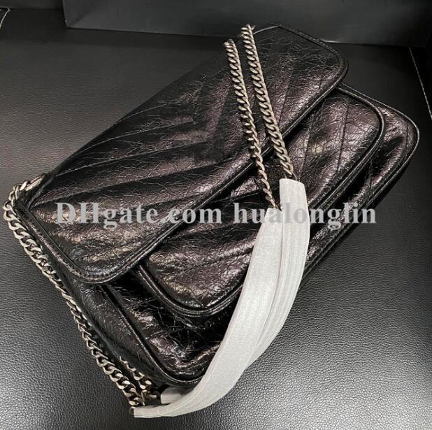Bolsa de couro genuíno bolsa bolsa de bolsa de ombro corporal de corpo bolsa mulher moda mensageiro atacado