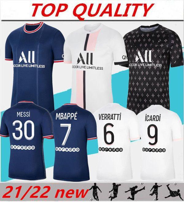 Mens 2021 2022 SRERGIO RAMOS soccer jersey MBAPPE Maillots de football 21/22 DI MARIA KIMPEMBE MARQUINHOS VERRATTI football shirt customize