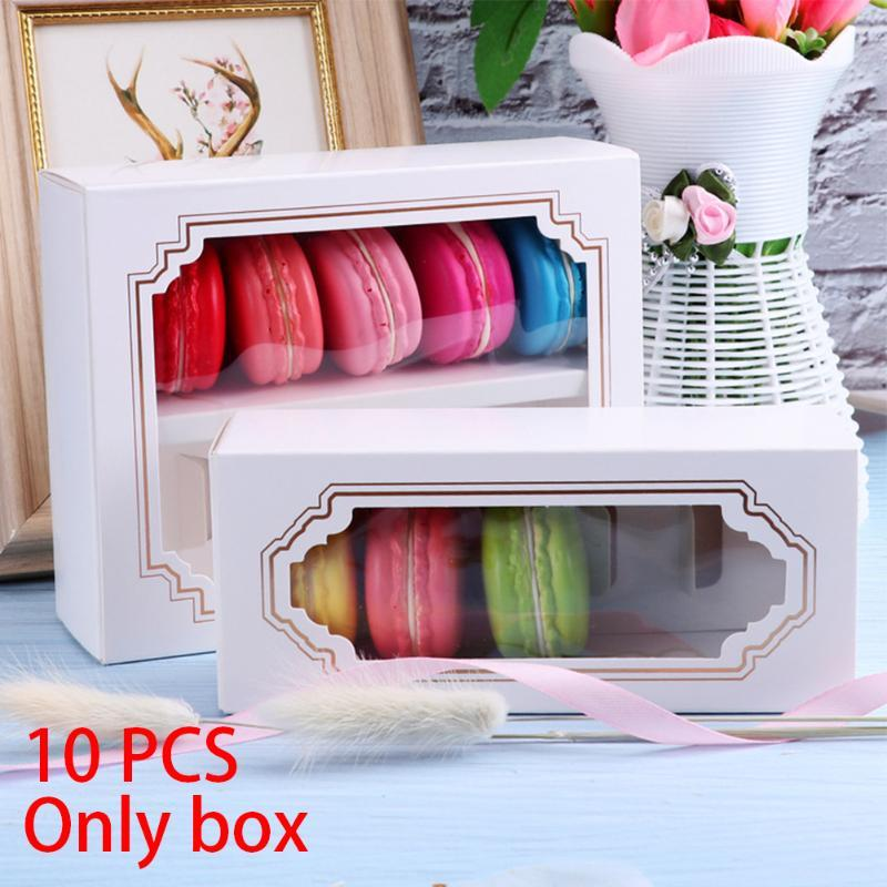 Gift Wrap 10pcs/set Biscuit Storage Macarons Box Paperboard Chocolate Holder Festival Party Wedding DIY Cake Cookies Packaging