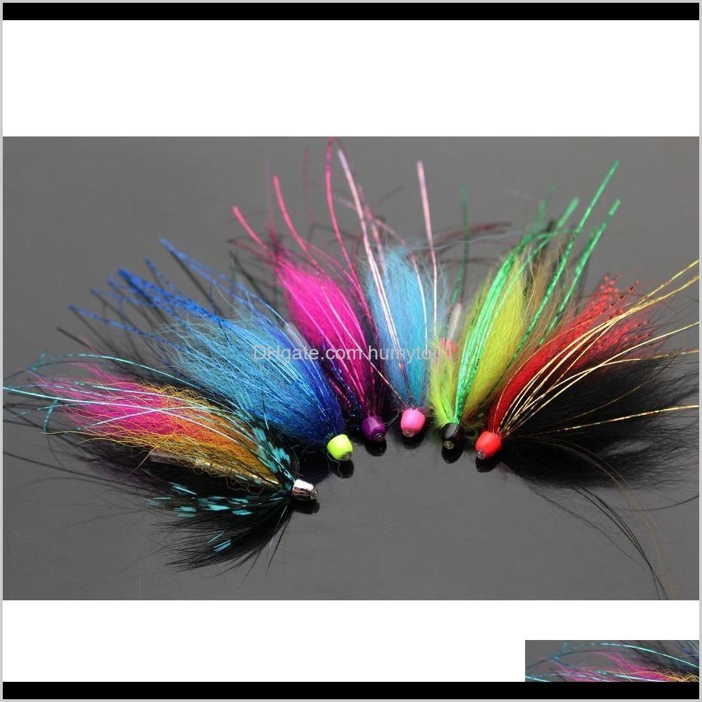 Tigofly 12 шт. / Лот Ассорти красочные медный конус головы трубки мухой набор для лосося форель стали на мухой рыбалки мух набор набор 201104 Ogior TMI3N