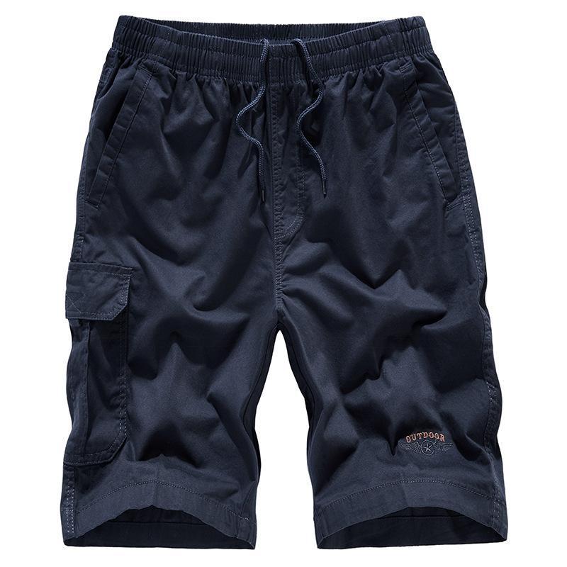 Летний мужской хлопок свободные легкие дышащие инструментальные шорты мода повседневная капри 3032