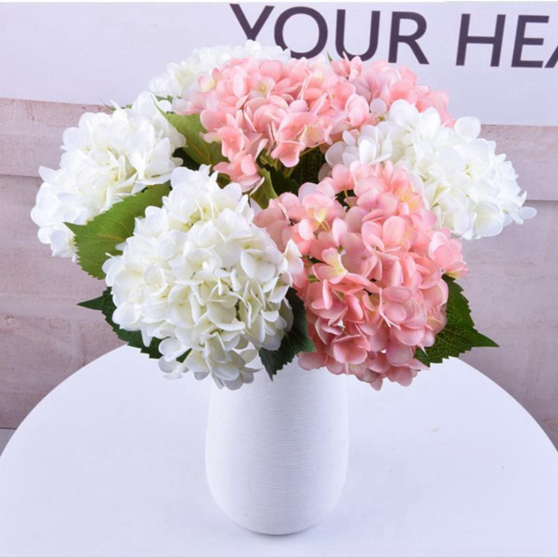 16 colores 47 cm Artificial Hydrangea Flor Seda falsa Soltera Real Real Touch para centros de boda Party Party Decorative Flower Sea Envío Lla500