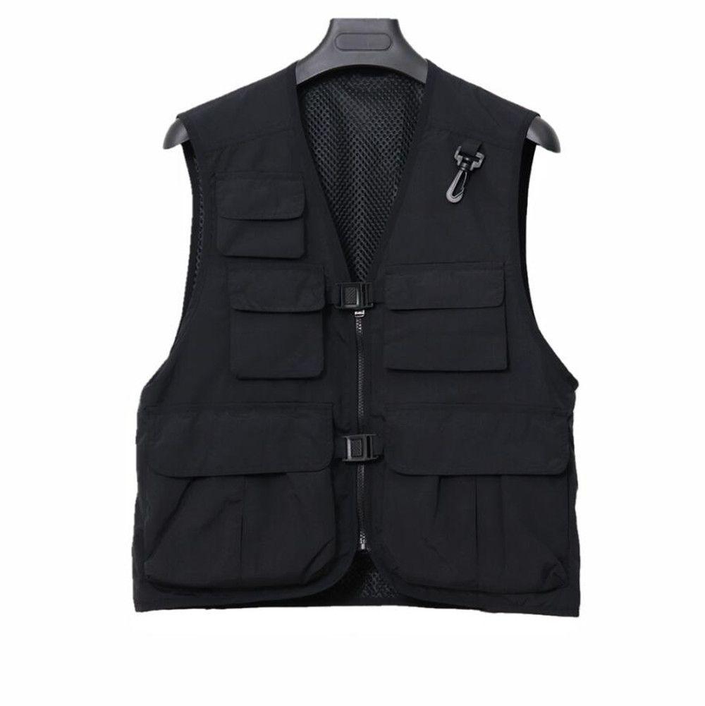 Veste des hommes Gilet de concepteur Sportswear en plein air Multi-poches Sans manches Veste manteau Casual Streetwear Tactical Mince Mesh Vest Hip Hop Sweatshirts