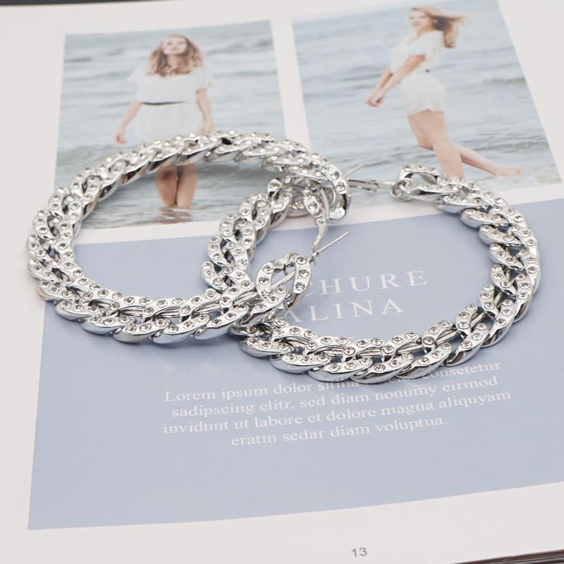 Hoop Hubgie Go2boho Big Acrylic Hoops Серьги Серьги Женские Ювелирные Изделия Модные Bling Chain Chare Ring 2021 Ювелирные изделия Серебристые Женщины Серьги