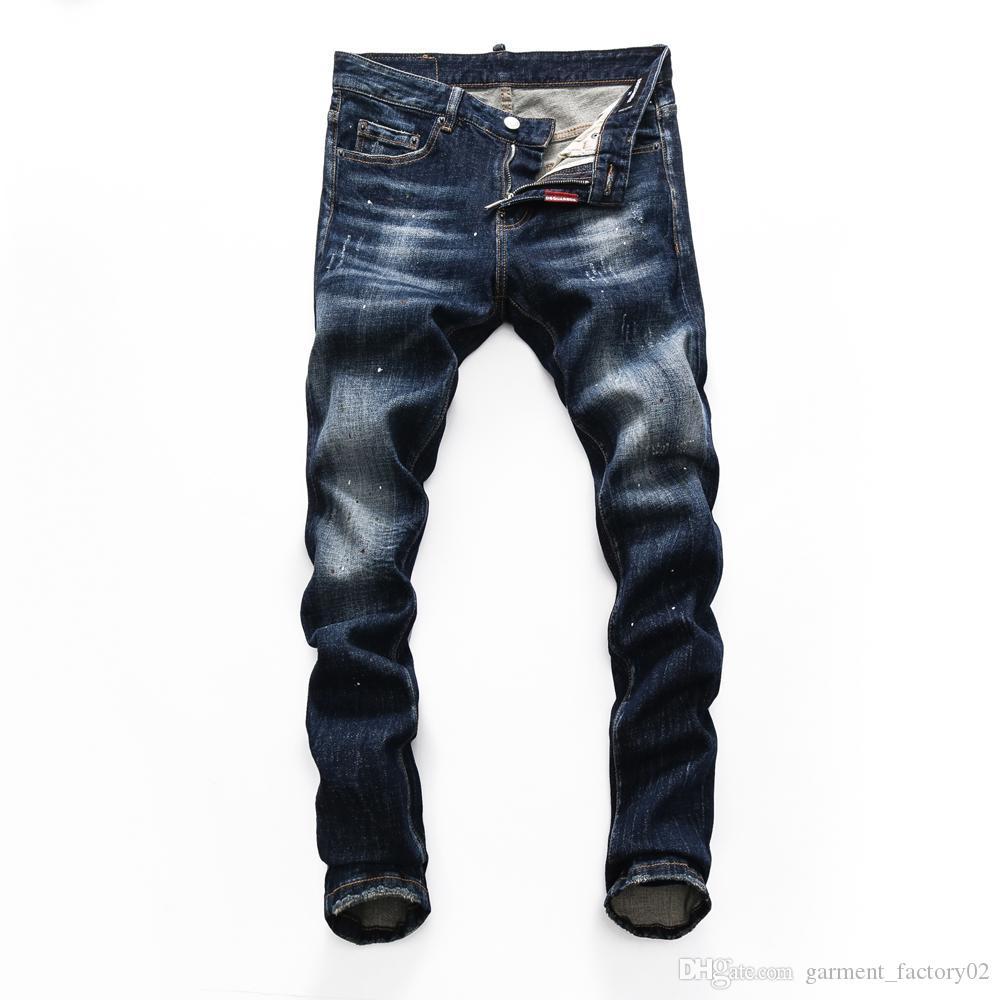 Высочайшее качество LYP оптом Два D Новый стиль мужской дизайнерский карандаш джинсы вне модных клубов одежда доставка джинсы белое любовное кольцо 08