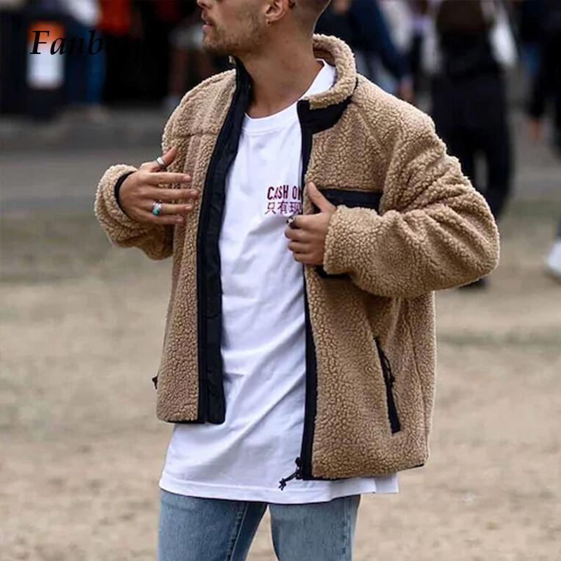 2021 outono inverno velo para homens jaqueta vintage carrinho colar quente sólido outerwear 2021 moda plus tamanho manga longa casacos tops