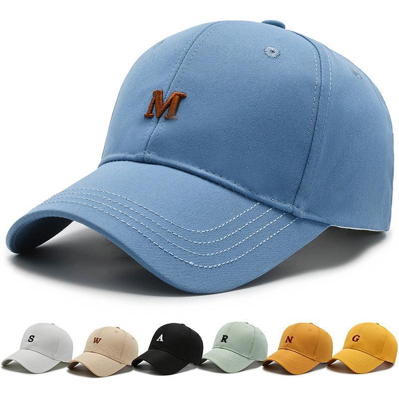 Bereler erkek ve kadın moda mektup şapka Kore versiyonu çok yönlü beyzbol şapkası eğlence sporları işlemeli