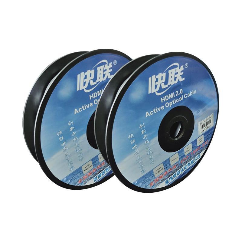 QuickLink HD Optical Faser HDMI-Kabel Gesamt Massedraht + F Anti-Tensionsseil + Matte PVC-Hülle OD4.8 + OM2 Faser-Kern * 4C + Matte PVC-Hülle OD: 4,8 mm / 0,15