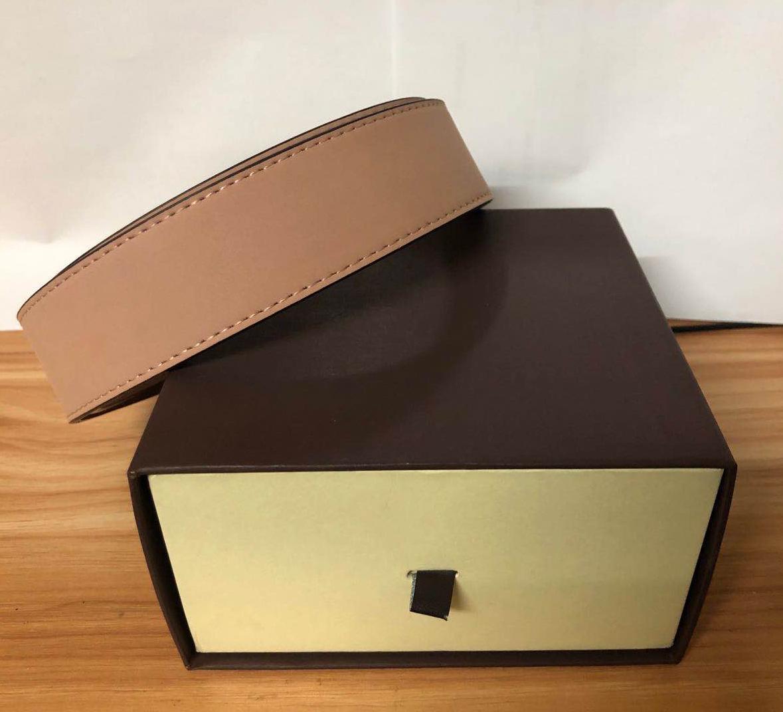 Cintos para Mens Cintos de Moda Cinto de Couro Business Cintos Mulheres Big Gold Fivela com caixa laranja Atacado