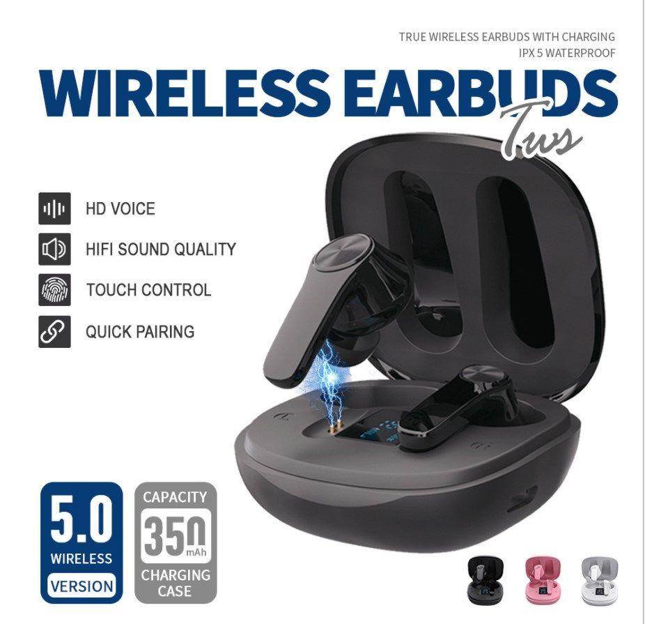 XT18 Bluetooth TWS Kulaklık Kablosuz Kulaklıklar Stereo Ses Müzik Kulaklık Kulaklıklar iPhone 11 12 13 Samsung S10 S20 Tüm Akıllı Telefon