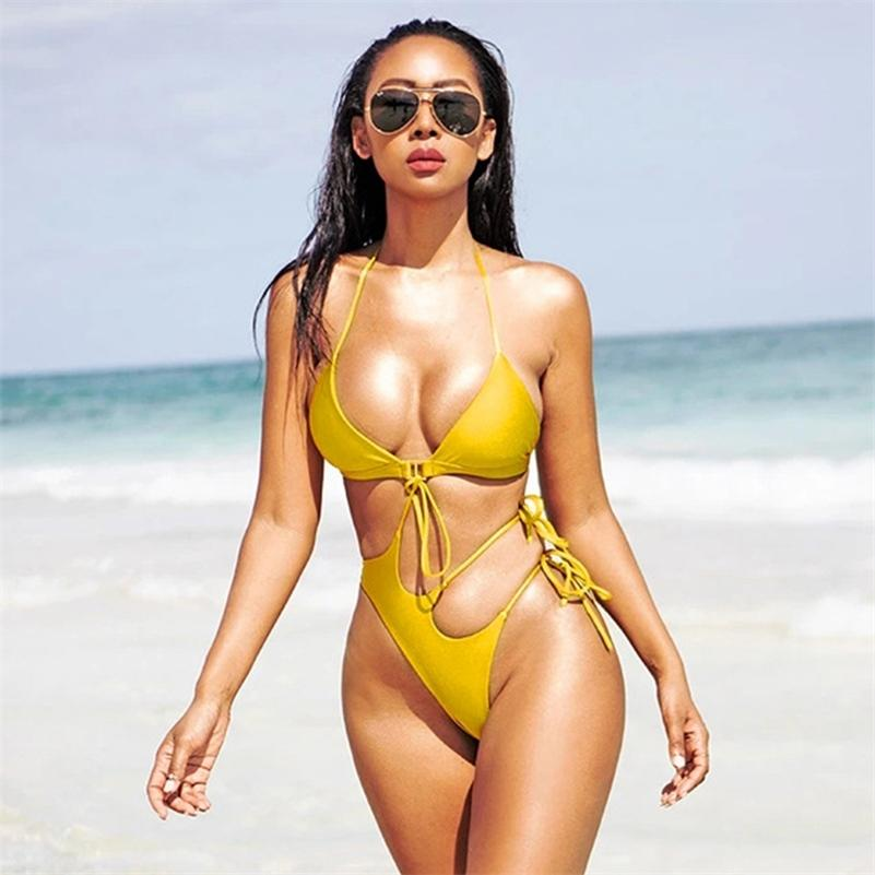 Nuevo Sexy Hollow Out Swimwear Mujeres On