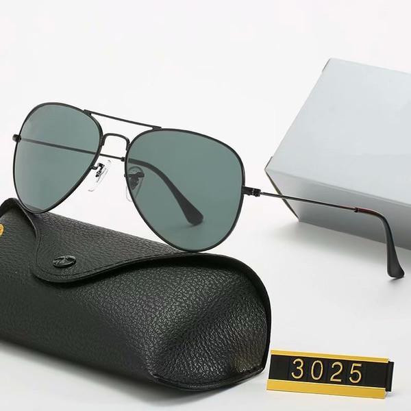 2020 Yeni Lüks Polarize Güneş Gözlüğü Erkek Kadın Pilot Güneş Gözlüğü UV400 Gözlük Marka Gözlük Metal Çerçeve Polaroid Lens Kılıfları ile YJFJFDJD
