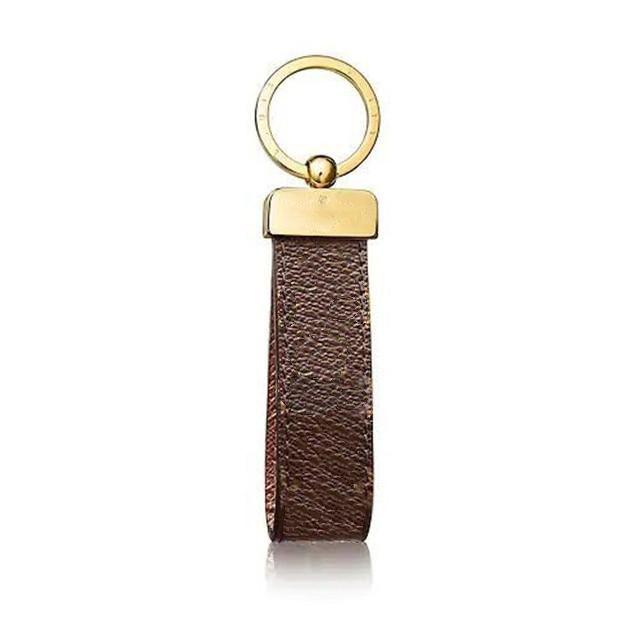 Porte-clés de luxe Designer Unisexe Chaîne de clés Cuir réel avec porte-clés en acier inoxydable Porte-clés avec boîte et sac à poussière
