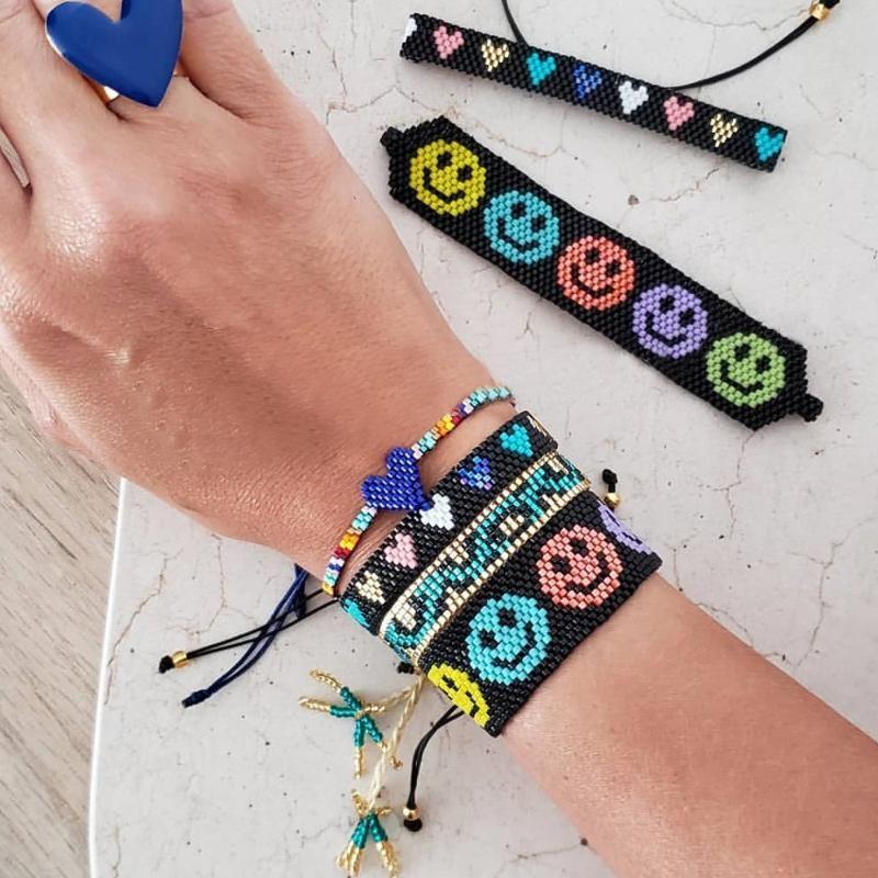 Браслет Miyuki для женщин мода леопарда Pulseras ювелирные изделия с кисточками браслеты для девочек бисером ювелирных изделий подарки дружбы