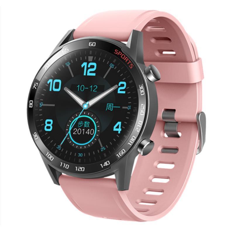 Smart Watch Men IP68 Impermeable Toque completo Pantalla redonda Múltiple Modo deportivo Modo cardíaco Pronóstico del tiempo Smartwatch para hombre