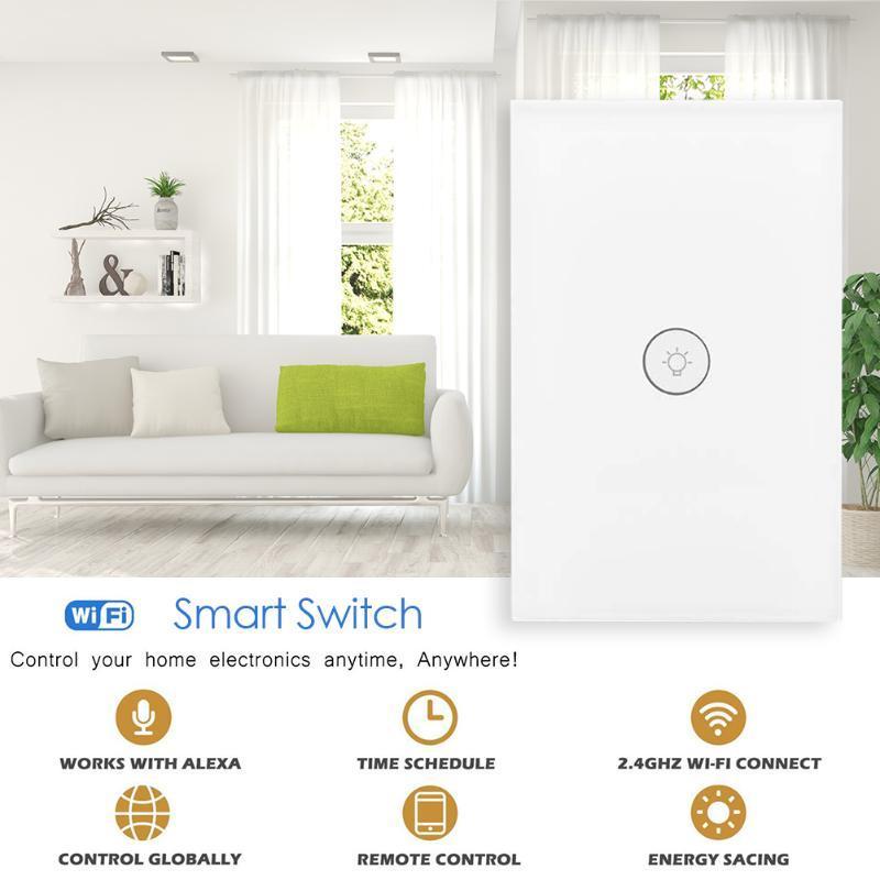 Smart Home Control Toccare lampada da parete interruttori wifi interruttore della luce remota con app pannello di vetro