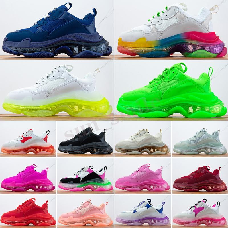 Balenciaga Triple S Donne da uomo scarpe da papà scarpe casual scarpe di cristallo in fondo a triple s scarpe da scarpe da ginnastica per uomo vintage vecchio analizzatore antato