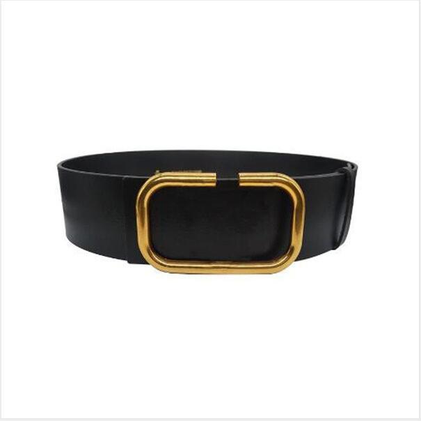 2022 مصمم أزياء المرأة 7CM حزام واسعة، أسود، أحمر الجسم، الذهب حزام مشبك بالجملة، AA880