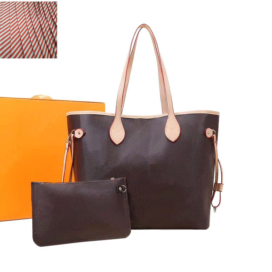 wholesale 2pcs sets Luxury Womans shoulder bags purse two-piece designer Totes Fashion flower handbag wallets Leather handbags 32CM shop bag 40156 glitter2009